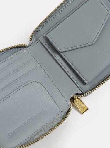 Šedá kožená malá peněženka Smith & Canova