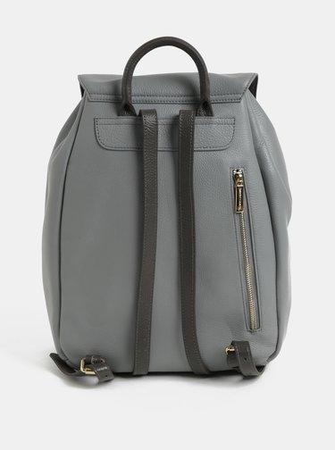 Svetlosivý kožený batoh Smith & Canova