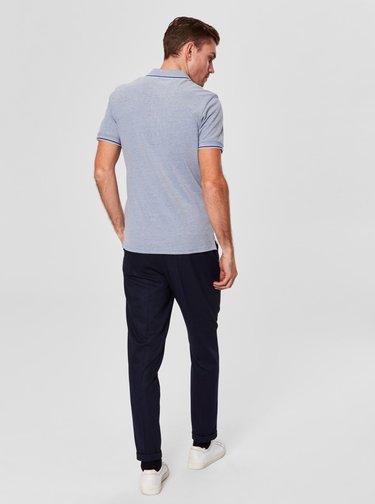Svetlomodré melírované tričko Selected Homme Twist