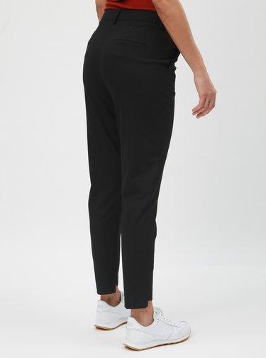 Čierne skrátené nohavice s vysokým pásom Selected Femme Famila