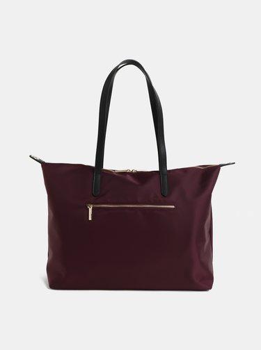 Vínová cestovná taška s vreckom na notebook Smith & Canova