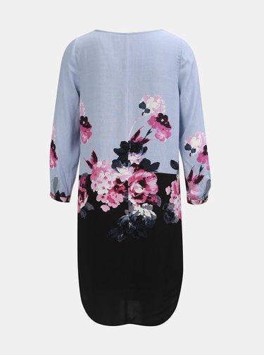 Čierno–modré dámske kvetované šaty s 3/4 rukávom Tom Joule
