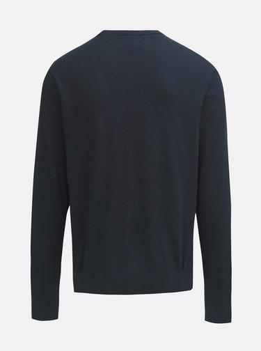 Tmavomodrý tenký sveter s okrúhlym výstrihom Original Penguin