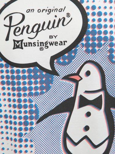 Tricou alb cu imprimeu pinguin Original Penguin