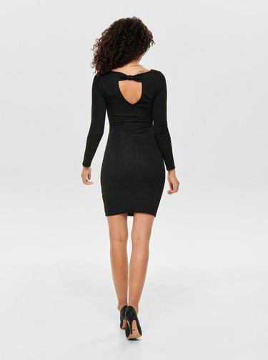 Rochie mulata neagra cu model si decupaj la spate ONLY Shine
