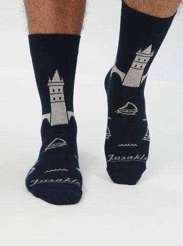 Tmavě modré ponožky Fusakle Karlův most