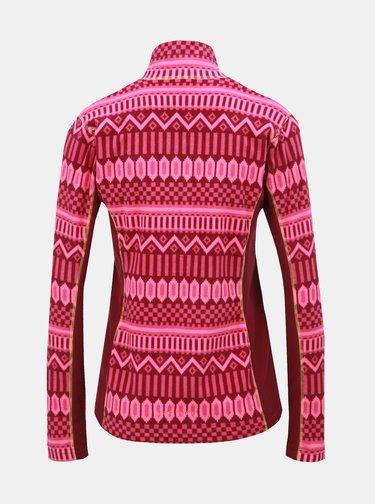Bluza sport roz inchis din fleece cu model Kari Traa Kroll
