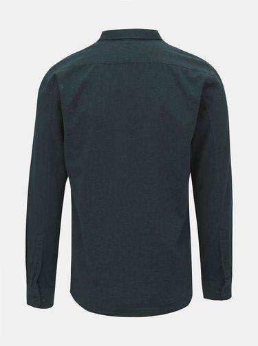 Tmavozelená košeľa JUNK de LUXE