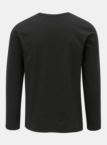 Tmavě šedé tričko s dlouhým rukávem a s potiskem Shine Original Breaker