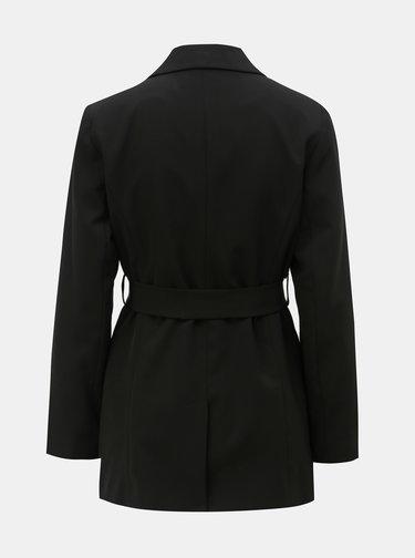 Čierne sako s opaskom na zaväzovanie Dorothy Perkins