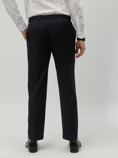 Tmavomodré tailored fit oblekové nohavice Burton Menswear London
