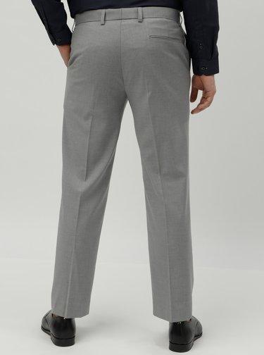 Šedé tailored fit oblekové kalhoty Burton Menswear London