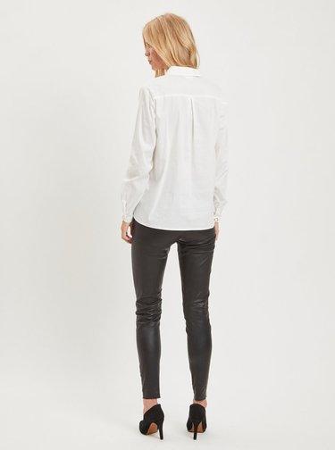 Biela košeľa s detailmi v zlatej farbe VILA