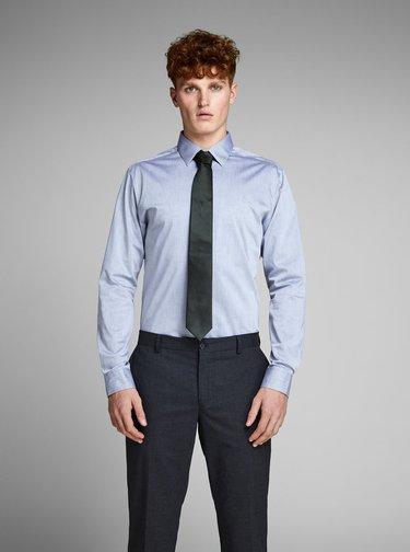 Cravata verde inchis din matase cu model discret Jack & Jones Premium Colombia