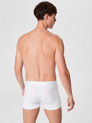 Biele boxerky Selected Homme Kris