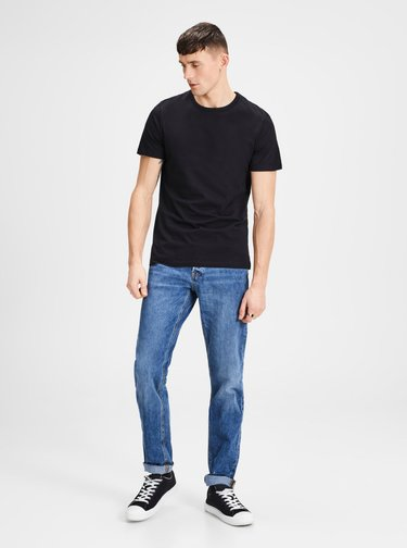 Set de 2 tricouri basic negre Jack & Jones Basic