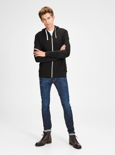 Hanorac negru Jack & Jones Holmen