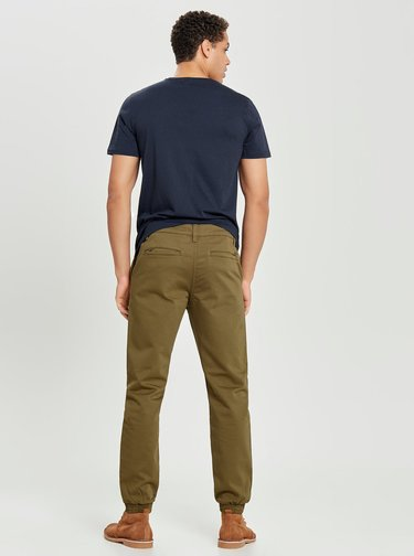 Hnedé anti fit chino nohavice ONLY & SONS