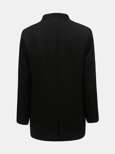 Černý vlněný krátký kabát Lindbergh