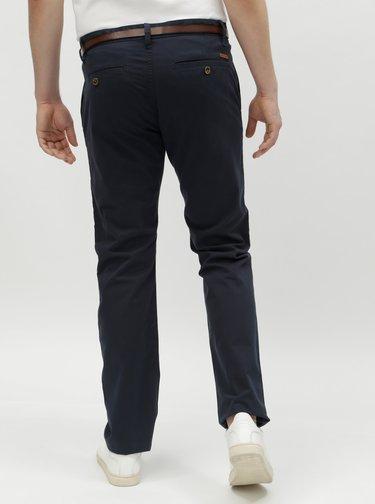 Pantaloni barbatesti albastru inchis chino cu cordon Tom Tailor