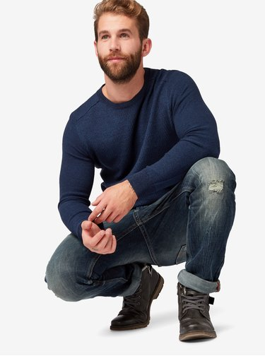 Pulover barbatesc albastru inchis Tom Tailor