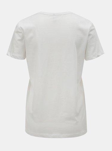 Bílé tričko s potiskem ONLY Kita