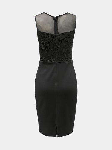 Čierne puzdrové šaty s flitrami Scarlett B