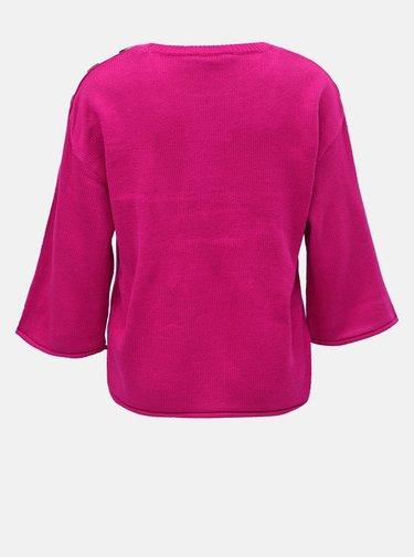 Pulover roz inchis cu nasturi Dorothy Perkins
