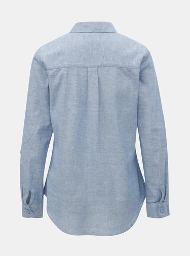 Světle modrá žíhaná košile s příměsí lnu Dorothy Perkins