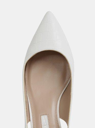 Pantofi albi cu motiv crocodil Dorothy Perkins