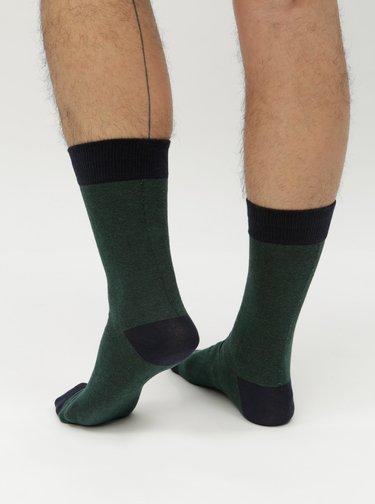 Modro-zelené  ponožky Selected Homme Fine
