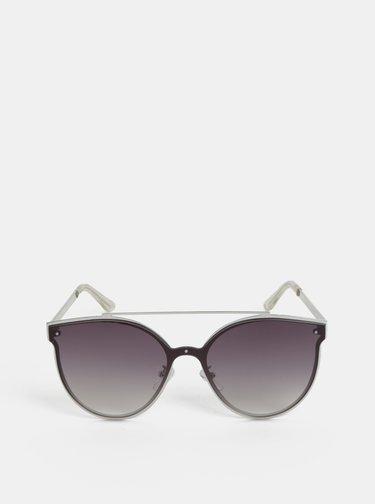 Slnečné okuliare v striebornej farbe Pieces Saga