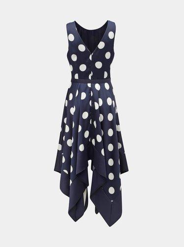 Tmavomodré bodkované šaty Dorothy Perkins