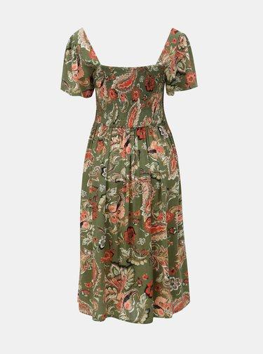 Kaki kvetované šaty Dorothy Perkins