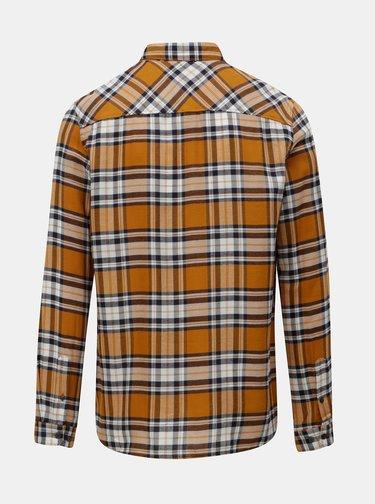 Modro–hnedá kockovaná košeľa Burton Menswear London