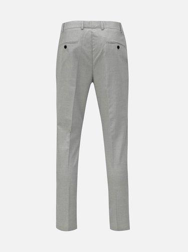 Světle šedé oblekové skinny kalhoty Burton Menswear London