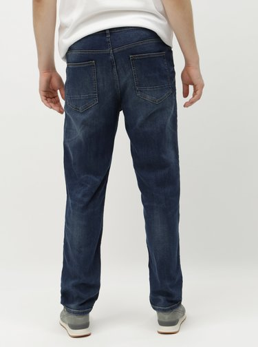 Blugi albastru inchis straight Burton Menswear London
