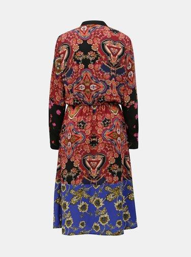 Modro–vínové vzorované šaty ONLY Talia