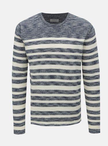 824dd2ad1c1c Modrý vlnený pánsky sveter v nórskom štýle Kama
