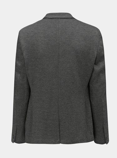 Tmavosivé melírované sako Burton Menswear London