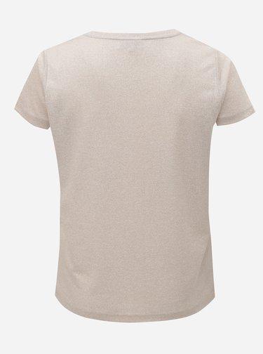 Svetloružové trblietavé tričko ONLY CARMACOMA Rex