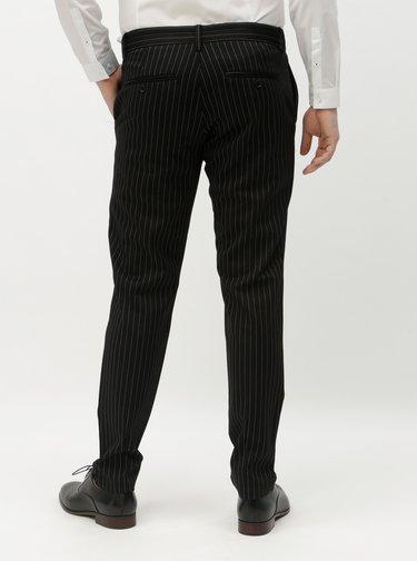 Černé pruhované kalhoty ONLY & SONS Mark