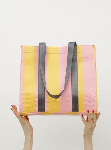 Žluto-růžová kabelka Pieces Briannah