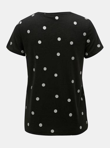 Černé puntíkované tričko ONLY Isabella