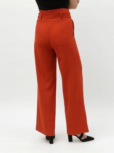 Cihlové široké kalhoty Miss Selfridge