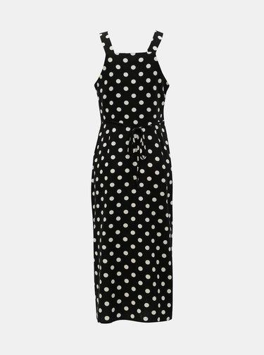 Rochie midi alb-negru cu buline si amestec de in Miss Selfridge