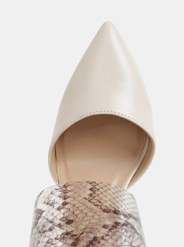 Krémové sandálky s hadím vzorom Dorothy Perkins