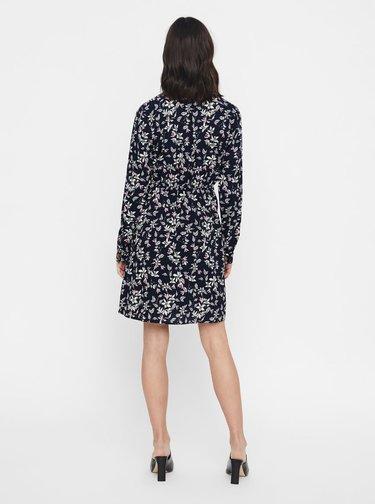 Tmavomodré kvetované šaty VERO MODA Viola
