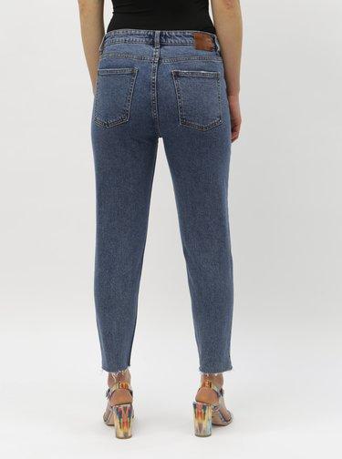 Modré zkrácené straight džíny ONLY Emily