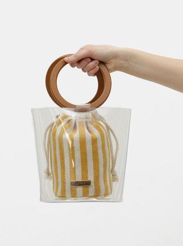 Geanta bucket transparenta 2 in 1 Bessie London